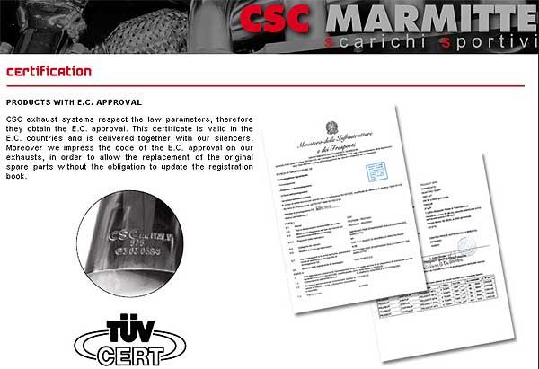CSC Marmitte Italia  - sportowe t³umiki i uk³ady wydechowe najwy¿szej klasy